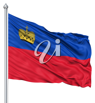 Royalty Free Clipart Image of the Flag of Liechtenstein