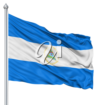 Royalty Free Clipart Image of the Flag of Nicaragua