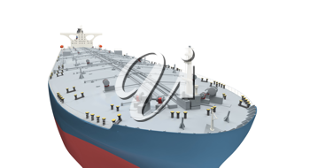 Royalty Free Clipart Image of an Oil Tanker