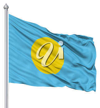 Royalty Free Clipart Image of the Flag of Palau