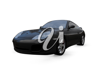 Royalty Free Clipart Image of a Porsche