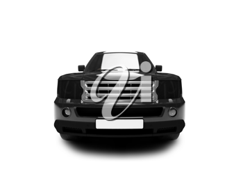 Royalty Free Clipart Image of a Range Rover