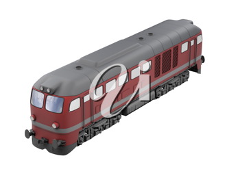 Royalty Free Clipart Image of a Red Train
