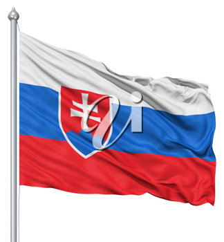 Royalty Free Clipart Image of the Flag of Slovakia