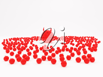Royalty Free Clipart Image of Little Red Devils