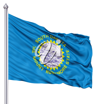 Royalty Free Clipart Image of the South Dakota Flag