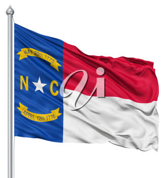 Royalty Free Clipart Image of the Flag of North Carolina