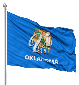 Royalty Free Clipart Image of the Flag of Oklahoma