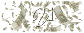 Royalty Free Clipart Image of a Bunch of Rubles