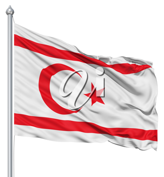 Royalty Free Clipart Image of the Flag of the Turkish Republic of Northern Cyprus