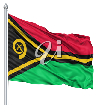 Royalty Free Clipart Image of the Flag of Vanuatu