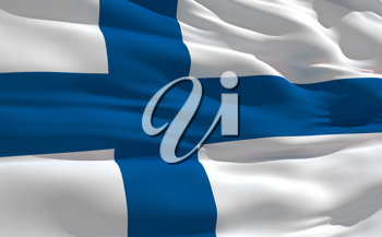 Royalty Free Clipart Image of the Flag of Finland