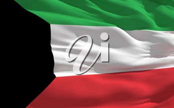 Royalty Free Clipart Image of the Flag of Kuwait