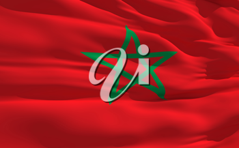 Royalty Free Clipart Image of the Flag of Maroc