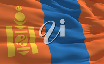 Royalty Free Clipart Image of the Flag of Mongolia