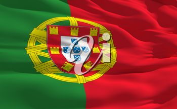Royalty Free Clipart Image of the Flag of Portugal