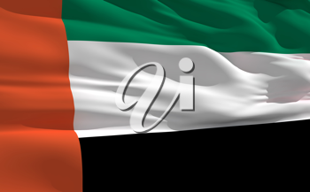 Royalty Free Clipart Image of the United Arab Emirates Flag