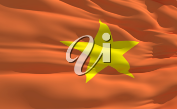 Royalty Free Clipart Image of the Flag of Vietnam