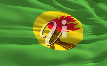 Royalty Free Clipart Image of the Flag of Zaire