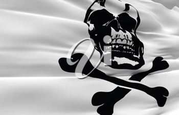 Royalty Free Clipart Image of a Pirate Flag