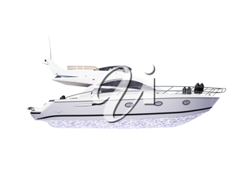 Royalty Free Clipart Image of a Yacht