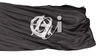 Anarchist Movement Flag, Isolated On White Background, 3D Rendering
