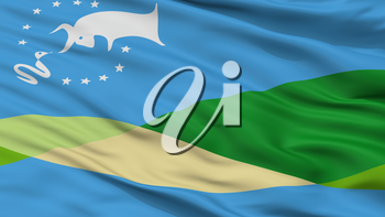 Gualeguaychu City Flag, Country Argentina, Closeup View, 3D Rendering