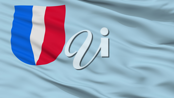 Kalinkavicy City Flag, Country Belarus, Closeup View, 3D Rendering