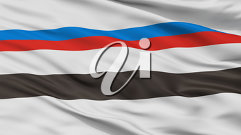 Smarhon City Flag, Country Belarus, Closeup View, 3D Rendering