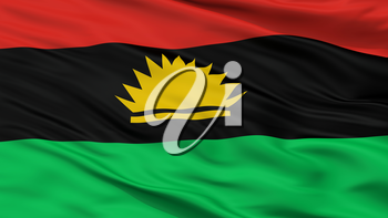 Biafra Flag Closeup View, 3D Rendering