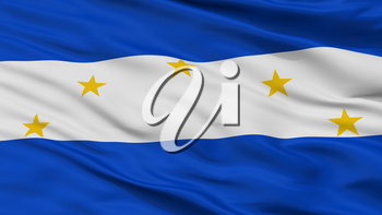 Vallegrande Province City Flag, Country Bolivia, Closeup View, 3D Rendering