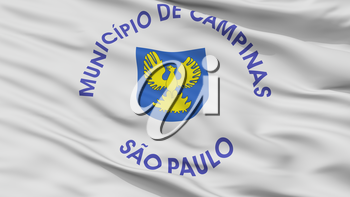 Campinas City Flag, Country Brasil, Closeup View, 3D Rendering