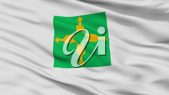 Distrito Federal City Flag, Country Brasil, Closeup View, 3D Rendering