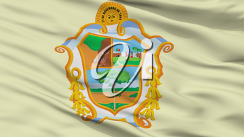 Manaus City Flag, Country Brasil, Closeup View, 3D Rendering