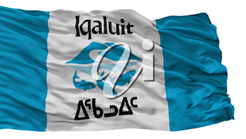 Iqaluit City Flag, Country Canada, Nunavut Province, Isolated On White Background, 3D Rendering