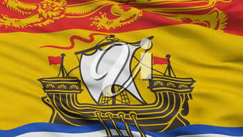 New Brunswick City Flag, Country Canada, Closeup View, 3D Rendering