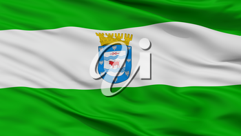 Los Angeles City Flag, Country Chile, Closeup View, 3D Rendering