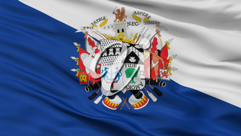 Osorno City Flag, Country Chile, Closeup View, 3D Rendering