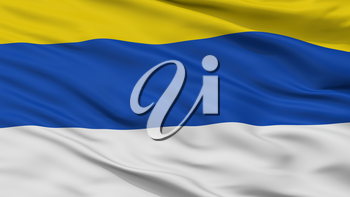 Peumo City Flag, Country Chile, Closeup View, 3D Rendering