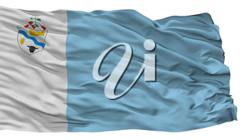 Rio Bueno City Flag, Country Chile, Isolated On White Background, 3D Rendering