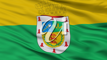 Victoria City Flag, Country Chile, Closeup View, 3D Rendering