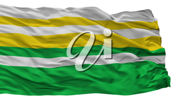 Alban City Flag, Country Colombia, Cundinamarca Department, Isolated On White Background, 3D Rendering
