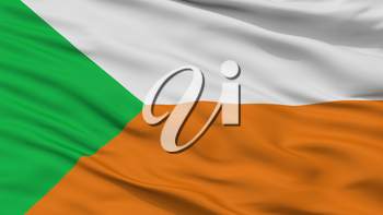 Apartado City Flag, Country Colombia, Closeup View, 3D Rendering