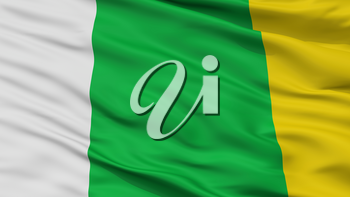 Arjona City Flag, Country Colombia, Bolivar Department, Closeup View, 3D Rendering