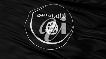 Eastern Indonesian Mujahideen Mujahidin Flag, Closeup View, 3D Rendering