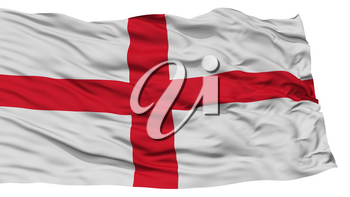 Isolated England Flag, Waving on White Background, High Resolution