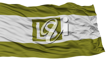 Isolated Lees Summit City Flag, City of Missouri State, Waving on White Background, High Resolution