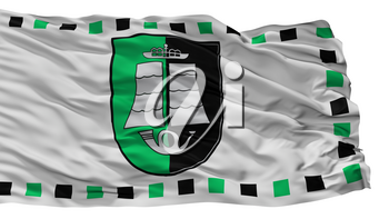Silute City Flag, Country Lithuania, Isolated On White Background, 3D Rendering
