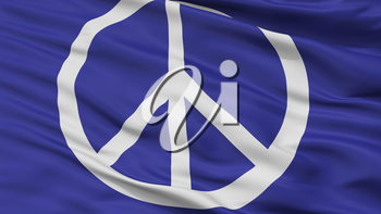 Peace Protest Flag, Closeup View, 3D Rendering