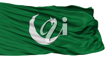 Pakistan Muslim League Flag, Isolated On White Background, 3D Rendering